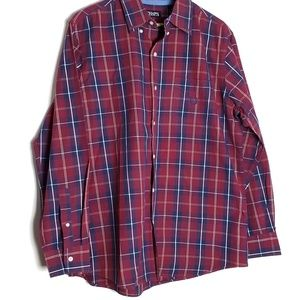 Chaps plaid button down shirt F10